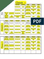 P90X+ - Calendar (alternate)