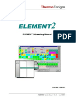 Thermo Finnigan ELEMENT2 Operating Manual