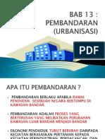 Bab 13 Pembandaran (Urbanisasi)