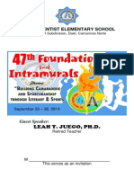 47th Foundation Day and Intramurals 2014