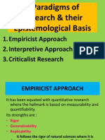3 Paradigms of Rtsearch & Their Epistemological Basis