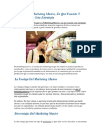 Definición de Marketing Masivo