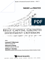 The Kelly Capital Growth Investment Criterion - Contents