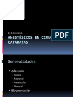 Anestesicos en Cirugias de Cataratas