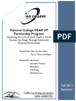 Fall 2012 - Gear Up Foundation Final Report