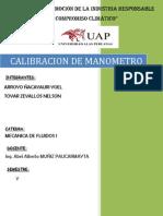 Calibracion de Manometro..