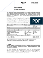 Product Specifications - PE 100 Metric Piping System Specifications