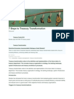 7 Steps to Treasury Transformation