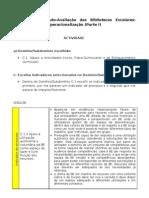 Modelo de Auto-Avaliação da BE - metodologias de operacionalização - Parte I