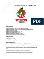 Circuito Nacional Juvenil de Ajedrez 2015