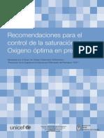 Recomendaciones Saturacion Optima de O2