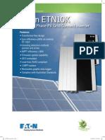 ETN10K 10kW 3-Phase PV Grid Connect Inverter Flyer PA en 6 2012