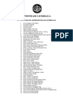 00. Daftar Isi Atadministrasi Lembaga 2