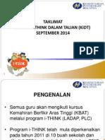 Kursus I-THINK Dalam Talian (KiDT)2014 - Taklimat Peluasan