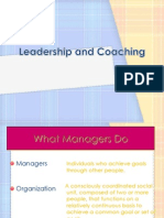Leadership, Coaching and Performance Management