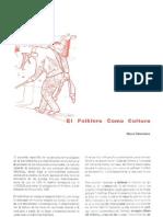 07. El Folklore Como Cultura. Manuel Dannemann