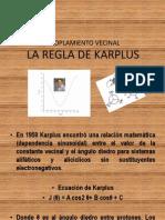Acoplamiento Vecinal Regla de Karplus