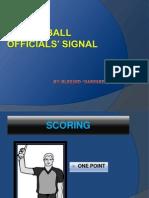 Basketball Officials' Signal