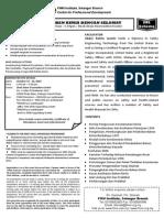Mengendali Bahan Kimia Dengan Selamat 13-14 October 2014