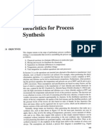 Heuristics for Process Synthesis