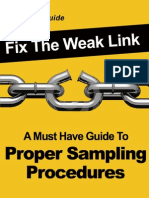 Fix the Weak Link- Sampling
