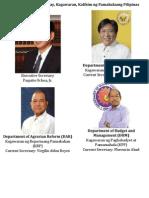 Mga Kagawaran at Kalihim Ng Pamahalaang Pilipinas