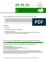 Emergency Services Current Awareness Update - Issue 24, May to August 2014