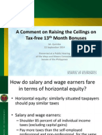 A Comment on Raising the Ceilings on Tax-free 13th Month Bonuses