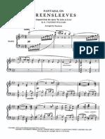 Vaugan-Williams - Fantasia on Greensleeves Arr. Piano
