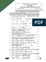 Std VIII- Ganit Sambodh 2014 Test Paper With Answer Key
