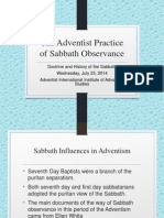 Adventist Practice of Sabbath Observance
