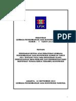 Peraturan LPJK No. 7 Tahun 2013 Tentang Sertifikat Tenaga Kerja Terampil Konstruksi
