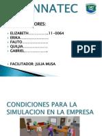 Condiciones Para La Simulacion en La Empresa