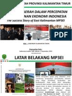 Peranan Daerah dalam Percepatan Pembangunan Ekonomi Indonesia. Kisah Sukses Pelaksanaan MP3EI.