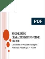 Engineering Characteristics Of Mine Timber