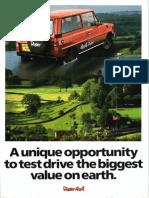 Dacia Duster 4x4  Aro 10 brosura prezentare