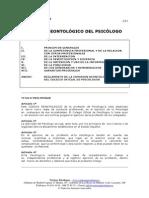 Código Ética Psicologo