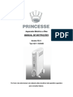 Manual Aquecedor Oleo Princesse RD-9