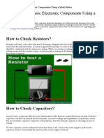 How to Check Basic Electronic Components Using a Multi