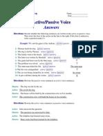 Active - Passive Voice - Answers