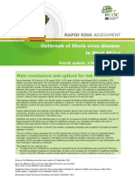 Ebola Virus Disease West Africa Risk Assessment 27-08-2014