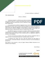 Modèle lettre de demande de stage (PFE)