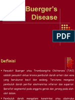 Buergers Disease Lapsus