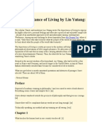 56315789 the Importance of Living by Lin Yutang