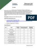 2014 mathematics 3201 course descriptor
