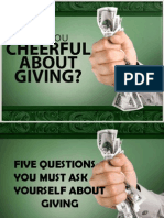 5 Questions About Tithing