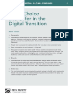 News Choice and Offer in the Digital Transition - Mapping Digital Media Global Findings