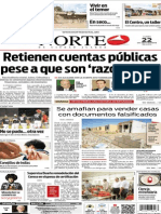 Periódico Norte edición del día 22 de septiembre de 2014