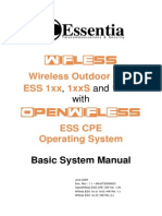 Essentia Wifless ESS 1xx, 1xxS & 1xx-D (HW All) Basic System Manual - OpenWifless ESS CPE Ver 1.20 - 20090623.pdf