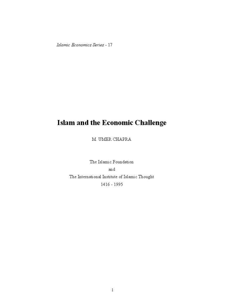 Islam and the Economic Challenge 1 | Socialism | Economic System